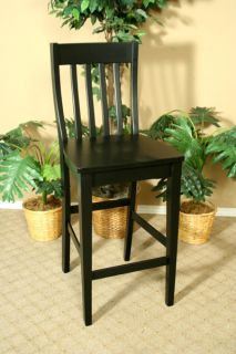 Black Mission Style Bar or Kitchen Stool