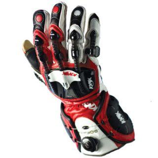 Knox Handroid Motorcycle Glove Red White Medium