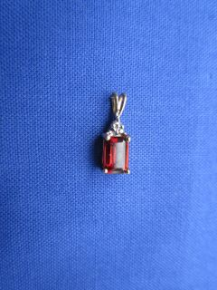 Garnet 10K Yellow Gold Earrings and Pendent from Lgl