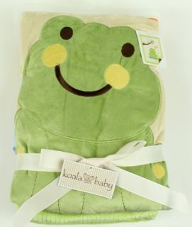 Koala Baby Plush Green Frog Crib Blanket