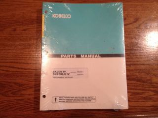 Kobelco SK200 IV SK200LC IV Excavator Parts Manual Original OEM Book