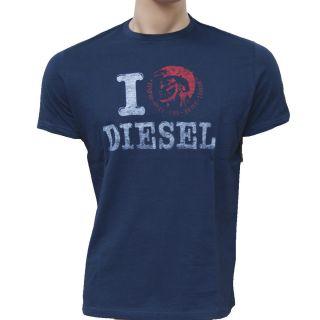 Men`s Diesel Short Sleeve Shirt T Shirt I Love Diesel Sz s M L XL XXL