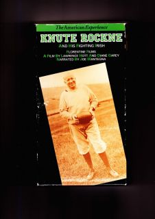KNUTE ROCKNE AND HIS FIGHTING IRISH (Notre Dame football) (1993) ( VHS