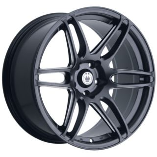18 Konig Deception Black Rims Wheels Civic RSX Eclipse