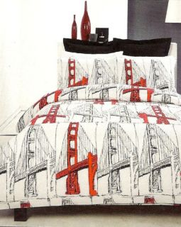 Koo Golden Gate Bridge Queen Quilt DOONA Cover Set New