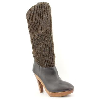 KORS Michael Kors Daze Womens Size 9 5 Brown Textile Fashion Knee High