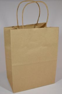 Kraft Brown Paper Shopping Bags Retail Grocery Merchandise Bag w