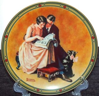 Knowles Limited Collector Plate 1985 A Couples Commitment by Norman