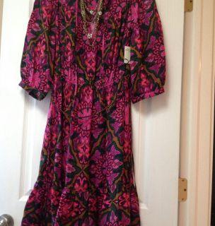 Milly Kristi Silk Ruffle Medallion Dress 6