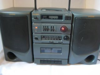 Koss Am FM CD Player Cassette Player Recorder Portable Stereo