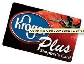 Kroger Plus Card 2000 Points $2 Off Gal Gas Fuel Up to 70 Gallons Gift
