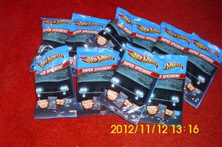 OF 12 2012 HOT WHEELS SUPER SPEEDERS KROGER 12 CARS WITH STICKERS MIP