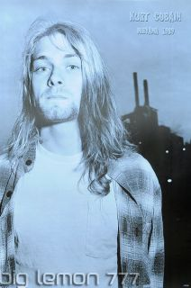 Kurt Cobain Nirvana 1989 Group Poster 4 24X35