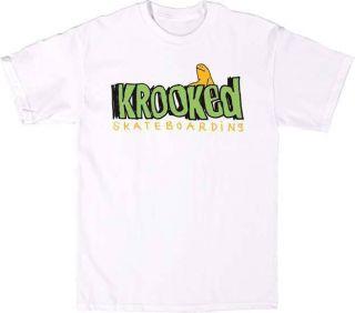 Krooked Skateboards Bold Tee White Skateboard T Shirt