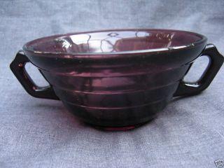 Amethyst Purple Depression Glass Moderntone Soup Bowl