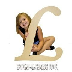 Unfinished Wooden Letter L 24 Big Paintable Cutout Craft Letters