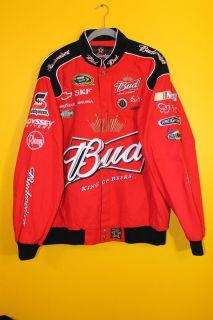 Kevin Harvick Black BUDWEISER BUD NASCAR Racing cotton jacket mens L