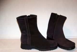 La Canadienne Womens Brown Leather Suede Boots 6 5M
