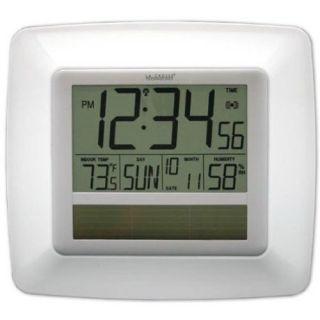 La Crosse Technology Solar Atomic Digital Wall Clock with Indoor Temp