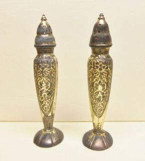 Vintage Silverplate La France 615 Set of Salt Pepper Shakers