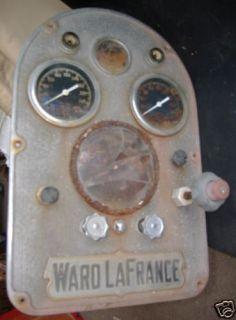 Ward La France Fire Engine Gauge Dash Panel 1940S