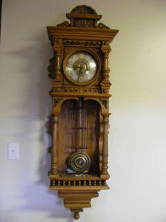 Gazo La Mesa Wooden Case Wall Pendulum Clock 1974