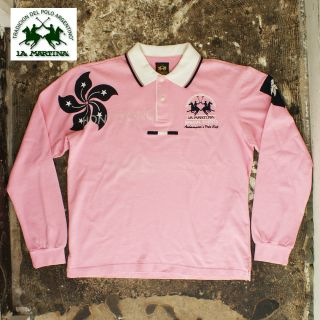 New La Martina Pink Hong Kong Long Sleeve Polo T Shirt Genuine RRP