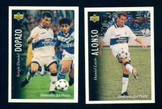 Sticker Gimnasia La Plata Futbol Team Soccer Deck Trading Cards 1995