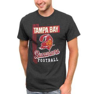 Tampa Bay Buccaneers Vintage Vertical Lines T Shirt Charcoal
