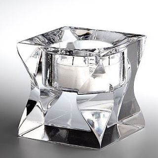 NAMBE FULL LEAD KURV VOTIVE CRYSTAL CLEAR GLASS HANDCRAFTED CANDLE