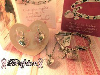 Brighton LA VIE en ROSE Collection Necklace & Earrings & POWER of PINK