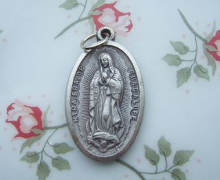 Catholic Medal Virgin Mary Our Lady Guadalupe large 20x35mm Silver
