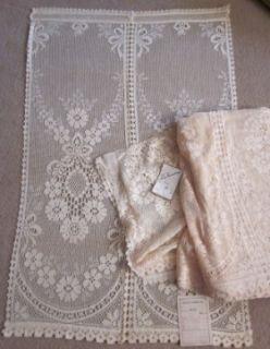1930s Vintage Cotton Lace Curtain Panels Chloe