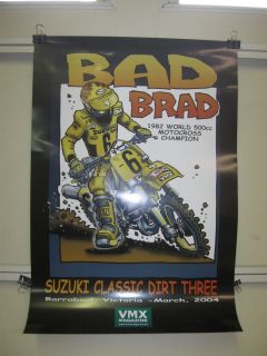 Brad Lackey 1982 500cc World Champion Posters Vintage Motocross RM500