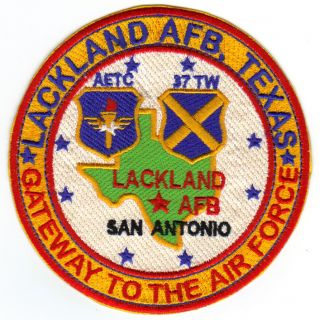 USAF AFB Patch Lackland AFB Texas Gateway to The Air Force Y