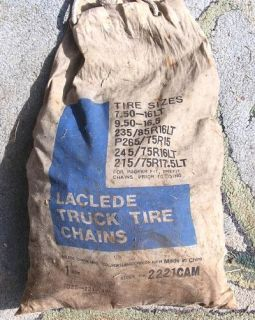 Laclede Truck Tire Chains Stock No 2221CAM Used Once