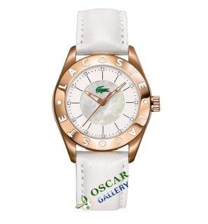 Lacoste Biarritz 2000534 White Dial Womens Watch New 2 Years Warranty