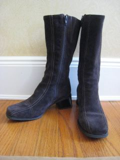 La Canadienne Waterproof Brown Suede Boot 7 1 2 7 5 Med B EUC
