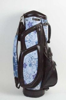 BURTON DESIGNER MILANO LADIES CART GOLF BAG DARK BROWN AND BLUE WOMENS