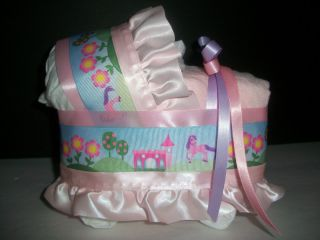 Castle Pink Girl Diaper Bassinet Baby Shower Centerpiece