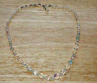 Vintage Laguna Brand Aurora Borealis Crystal Necklace