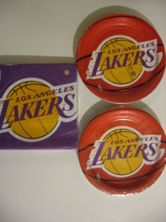 Los Angeles Lakers Party Supplies Includes Plates Napkins New
