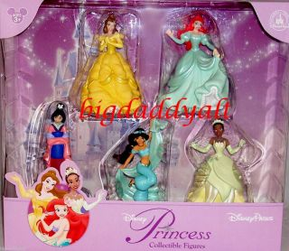 DISNEY PRINCESS JASMINE ARIEL MULAN BELLE CAKE TOPPER FIGURINE SET