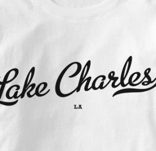 Lake Charles Louisiana La Metro White Hometo T Shirt XL