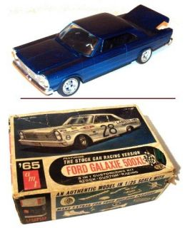 1965 FORD GALAXiE 500XL CAR MODEL 1 25 SCALE AMT MODEL 6125 200 w BOX