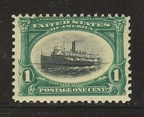 US 294 1901 1c Pan American Exposition Steamship City of Alpena Unused