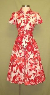 Jessica Howard White with Pink Red Flower Print Summer Dress 8P