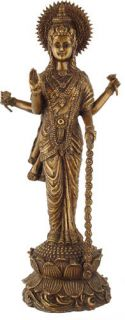 Lakshmi Bronze Statue Sculpture Goddess Hindu Art India