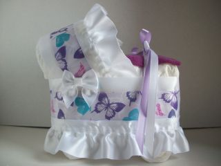 Butterfly Girl Diaper Bassinet Carriage Baby Shower Centerpiece