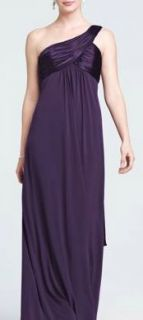 Davids Bridal Bridesmaid Dress Lapis Purple Style f13185 Formal Gown